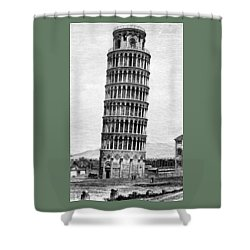 Leaning Tower Of Pisa 1870 Drawing Shower Curtain