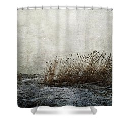 Leaning Straws Shower Curtain