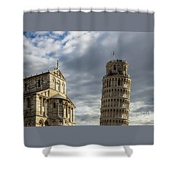 Leaning Tower And Duomo Di Pisa Shower Curtain
