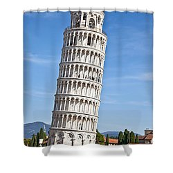Leaning Tower Of Pisa Shower Curtain by Liz Leyden