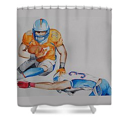 Leap To The Finish Shower Curtain