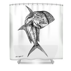 Leaping Dolphin  Shower Curtain