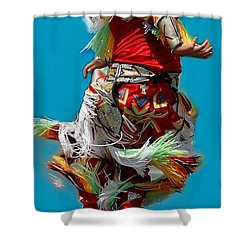 Leaping Into The Air Shower Curtain by Kathleen Struckle