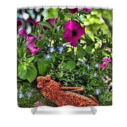 Leaping Lizards Shower Curtain