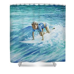 Learning To Fly Shower Curtain by William Love