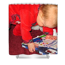 Learning To Read Shower Curtain by Connie Fox