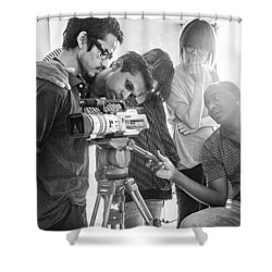 Learning Video Production In India On Shower Curtain