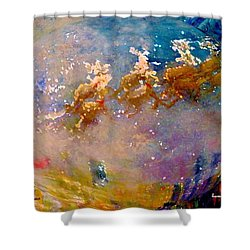 Leave Some Cookies For Santa Shower Curtain by Lisa Kaiser