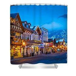 Leavenworth Skyline Shower Curtain by Inge Johnsson