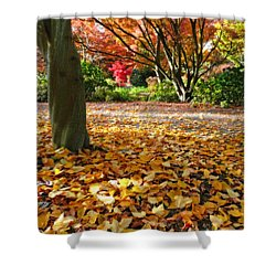 Leaves And More Leaves Shower Curtain
