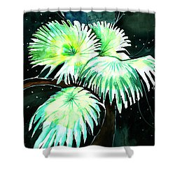 Leaves Shower Curtain by Anil Nene