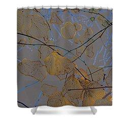 Leaves Shower Curtain by Carol Lynch