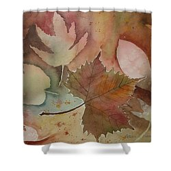 Leaves Shower Curtain by Patricia Novack