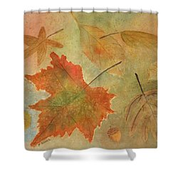 Leaves Vll Shower Curtain by Patricia Novack