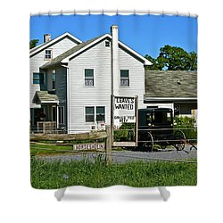 Leaves Wanted Grass Fed Beef Horseshoeing Shower Curtain