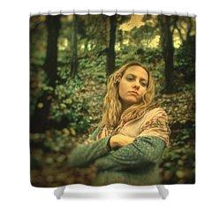 Leaving Eden Shower Curtain by Taylan Apukovska