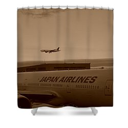 Leaving Japan Shower Curtain