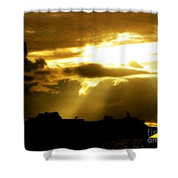 Shower Curtain featuring the photograph Leaving Kona by David Lawson