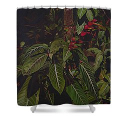 Shower Curtain featuring the painting Leaving Monroe by Thu Nguyen