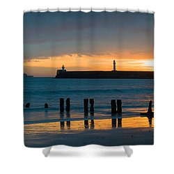Leaving Port Shower Curtain by Dave Bowman