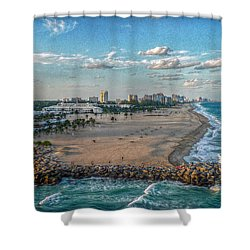 Leaving Port Everglades Shower Curtain
