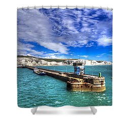 Leaving The Port Of Dover Shower Curtain