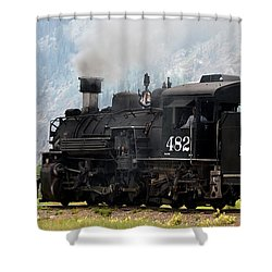 Leaving Town Shower Curtain by Ernie Echols