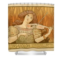 Lecons De Violon Shower Curtain by Gianfranco Weiss