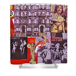 Led Zeppelin Collage Number Two Shower Curtain