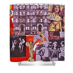 Led Zeppelin  Collage Number Two Shower Curtain by Donna Wilson