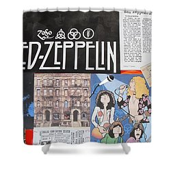 Led Zeppelin Past Times Shower Curtain by Donna Wilson
