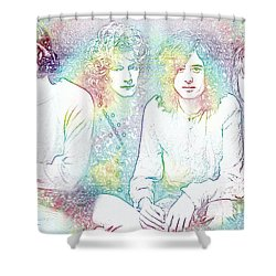 Led Zeppelin Tie Dye Shower Curtain by Dan Sproul