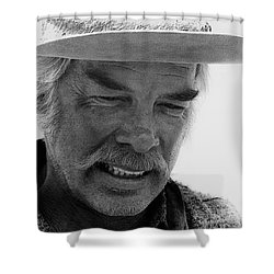 Lee Marvin Monte Walsh Variation 1 Old Tucson Arizona 1969-2012 Shower Curtain by David Lee Guss