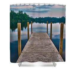 Lees Mills Dock Shower Curtain