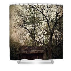 Left Untouched Shower Curtain by Dale Kincaid