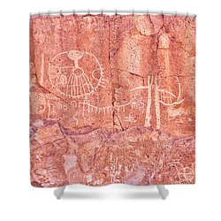 Petroglyphs Owens Valley California Shower Curtain