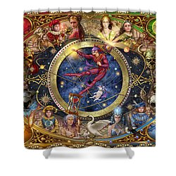 Legacy Of The Divine Tarot Shower Curtain by Ciro Marchetti