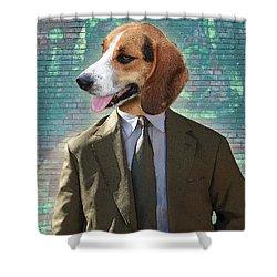 Legal Beagle Shower Curtain by Nikki Smith