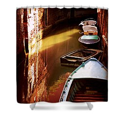 Shower Curtain featuring the photograph Legata Nel Canale by Micki Findlay