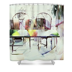 Legato Shower Curtain by Jeremy Annett