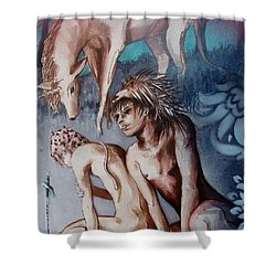 Legend Of Hedgehog Boy Shower Curtain