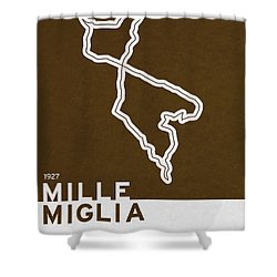 Legendary Races - 1927 Mille Miglia Shower Curtain by Chungkong Art