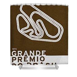 Legendary Races - 1973 Grande Premio Do Brasil Shower Curtain by Chungkong Art