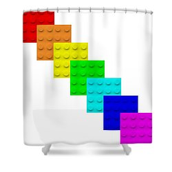 Lego Box White Shower Curtain