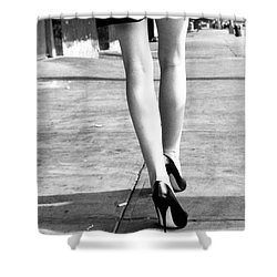 Shower Curtain featuring the photograph Legs New York by Rebecca Harman