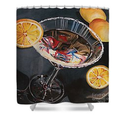 Lemon Drop Shower Curtain by Debbie DeWitt