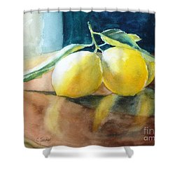 Lemon Reflections Shower Curtain