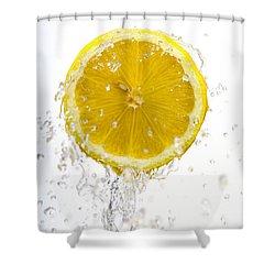 Lemon Splash Shower Curtain