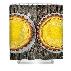 Lemon Tarts Shower Curtain by Elena Elisseeva