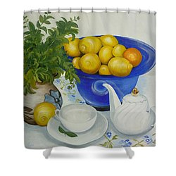 Lemon Tea Shower Curtain